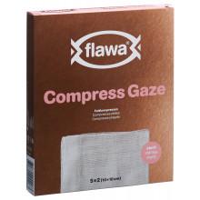 FLAWA compr plié 17fil 10x10cm 8c st set 5 x 2 pce