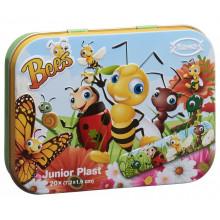 FLAWA Junior Plast Bees Tin Box 20 pce