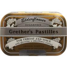 GRETHER'S Pastilles Elderflower sans sucre 110g