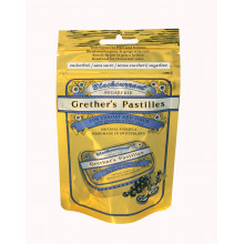 GRETHER'S Pastilles Blackcurrant sans sucre - sachet 100g