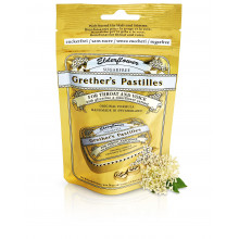 GRETHERS elderflower pastilles sans sucre refill sach 100 g