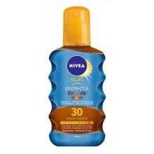NIVEA SUN Huile Solaire Protect & Bronze SPF 30 Spray 200 ml