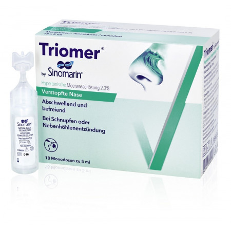 TRIOMER sol Sinomarin hyperton 18 monodos 5 ml