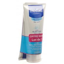 MUSTELA Duo 2 en 1 gel nettoyant peau normale 2 x 200 ml