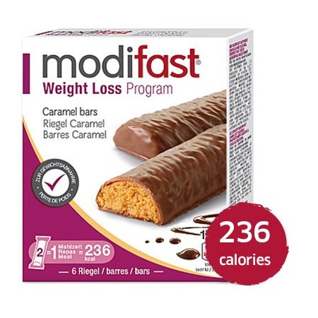 MODIFAST programme barre caramel, 6x31g