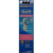 ORAL-B brosse rechange sensitive 2 pce