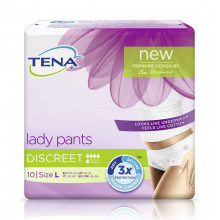 TENA Lady Pants Discreet Large 10 pièces