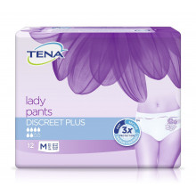 TENA Lady Pants Discreet Plus Medium 12 pièces
