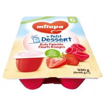 MILUPA le Petit Dessert fruits rouges 6 x 55 g