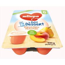 MILUPA le Petit Dessert pêche-poire 6 x 55 g