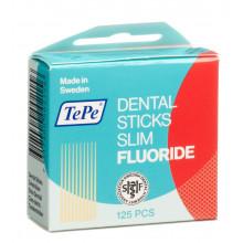 TEPE cure dents fluor rouge bois bouleau 125 pce