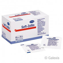 SOFT ZELLIN tampons alcool 60x30mm 100 pce