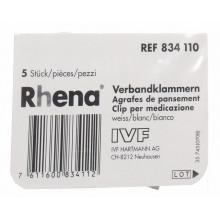 RHENA agrafes pansement blanches 5 pce