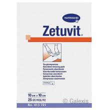ZETUVIT compresse absorbante 10x10cm stér 25 pce