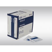 WEBCOL tampons alcool 3.3x3.1cm stéril 200 pce