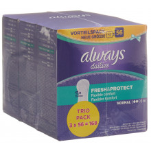 ALWAYS Protège-slip Fresh&Protect Normal Trio pack avantageux 3 x 56 pce