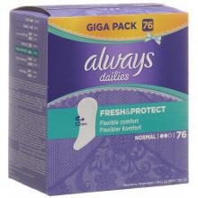 ALWAYS Protège-slip Fresh&Protect Normal Gigapack 76 pce