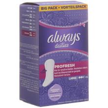ALWAYS Protège-slips ProFresh Large pack avantageux 40 pce