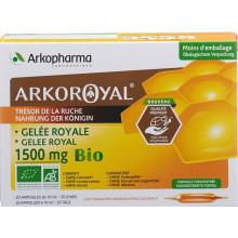 ARKOROYAL gelée royale 1500 mg bio 20 amp buv 10 ml