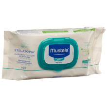 Mustela Lingettes nettoyantes relipidantes 50 pce