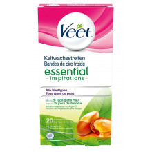 VEET bandes de cire froide jambes & corps essential 10 x 2 pce