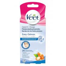 VEET bandes de cire froide visage peaux sensible 10 x 2 pce