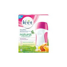VEET EasyWax roll-on set sensitive cire chaude natural