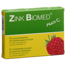 Zink BIOMED plus C cpr sucer framboise 50 pce