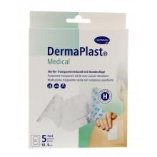 DERMAPLAST Medical pansement transparent 10x9cm 5 pce